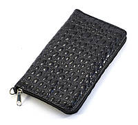 Недорогой черный чехол-футляр для мобильного телефона на молнии с змеиным принтом