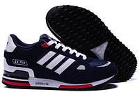 Кроссовки Adidas ZX 750 Синие с белым