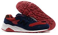 Мужские кроссовки New Balance 580 синие с красным