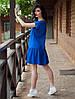 Легкое свободное платье из хлопка, Лолита синяя, фото 2