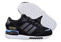 Зимние женские кроссовки на меху Adidas ZX 750 в черном цвете 38