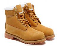 Мужские ботинки Timberland рыжие с мехом