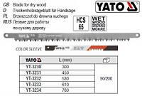 Полотно для лучкової ножівки HCS 65 l=300 мм YATO-3230