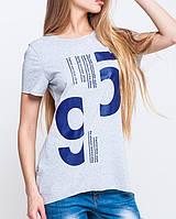 Футболка с цифрами | 95 leo серый