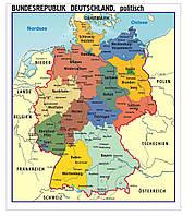 """Стенд для немецкого кабинета """"Карта Германии"""""""