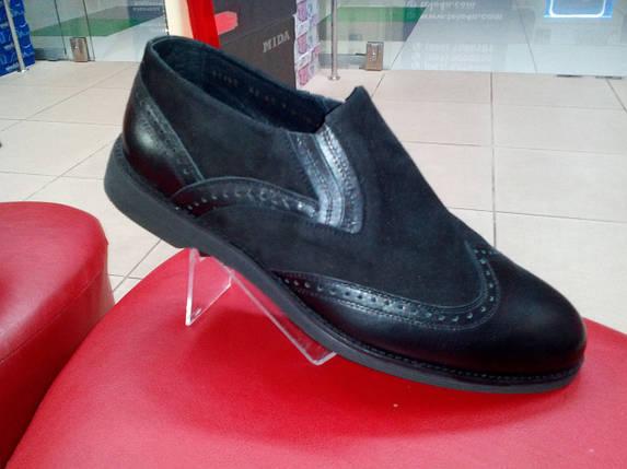 Модные мужские туфли замша + кожа МИДА 11145 премиум, фото 2