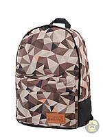 Рюкзак, наплечник 25 Л ( унисекс ) ( с отделением для ноутбука ) Urban Planet - 3D ( коричневый / чёрный )
