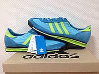 Мужские кроссовки Adidas 70S синие с желтым