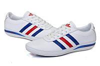 Кроссовки Adidas Porsche Design мужские белые с красно-синими вставками