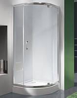 Полукруглая душевая кабина Sanplast KP1DJ/TX5-90-S sbW0 профиль хром, прозрачное стекло