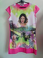 Туника футболка удлиненная на девочку р-ры 116, пр-во Турция