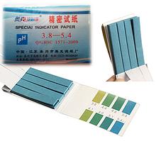 Специальная индикаторная  бумага 3.8-5.4 рН тест 80 полосок
