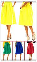 Женская стильная юбка длины MIDI