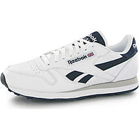 Кроссовки Reebok Classic Leather White Navy Blue