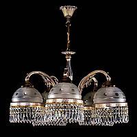 Латунная люстра потолочная CASSANDRA V. white gold
