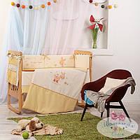 Набор в детскую кроватку Детские мечты, Пони бежевый  (6 предметов), фото 1