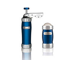 Marcato Pack Blu Biscuits + Dispenser (2 в 1) пресс для печенья и сито, цвет синий