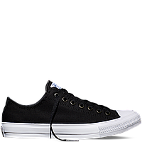 Кеды Converse All Star II Low Chuck Tailor Lunarlon черно-белого цвета 36