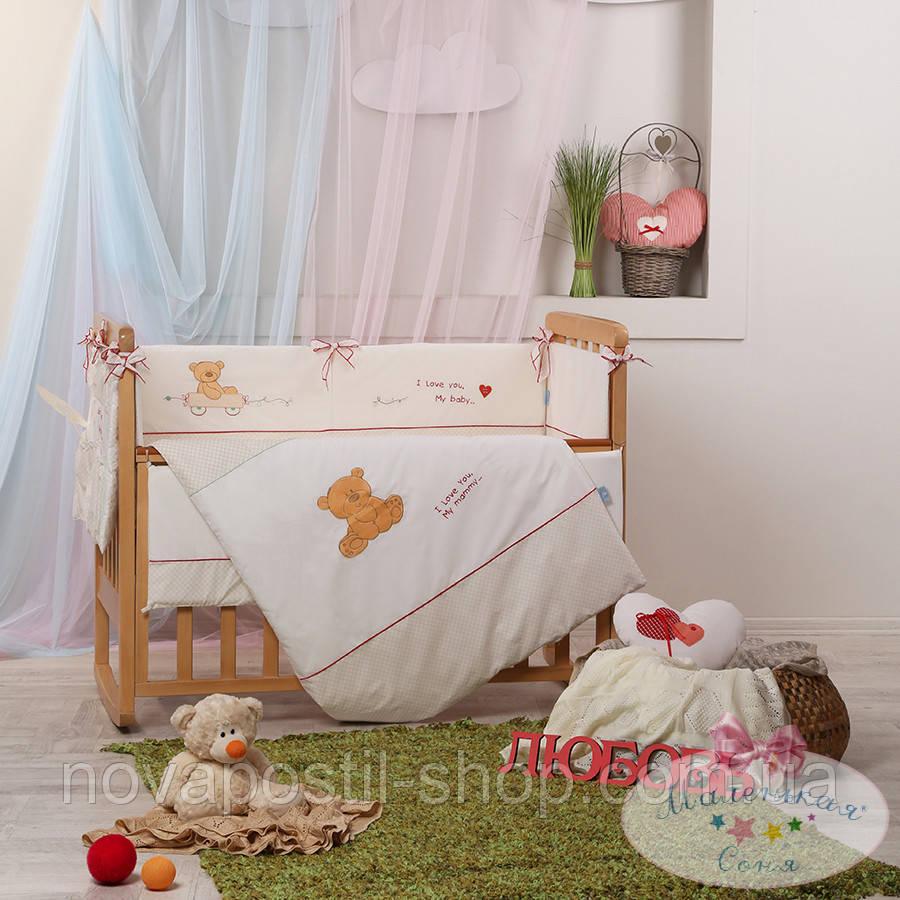 Набор в детскую кроватку Детские мечты, My mammy красный  (6 предметов)
