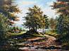 «Сельский пейзаж. Дорога» картина маслом
