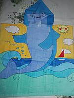 Детское пляжное полотенце -пончо