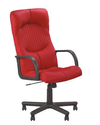 Кресло офисное Germes ВХ Plastic механизм Tilt экокожа Eco-90 (Новый Стиль ТМ), фото 2