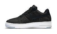 Кроссовки Nike Air Force Flyknit Low черного цвета