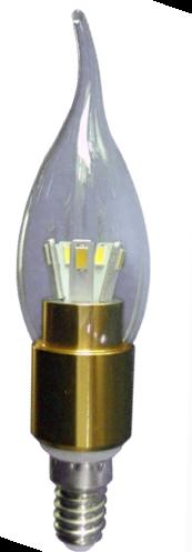 Лампа Lemanso св-ая C35T E14 5W 450LM 2700K прозр. золото / LM342 хвостик