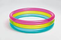 Круглый детский надувной басейн радуга 86*25 см Intex 57104