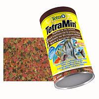 Tetra MIN 1L (хлопья) - основной корм для аквариумных рыб