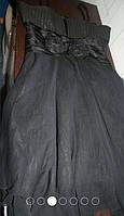 Модное черное коктейльное платье 44р.- S