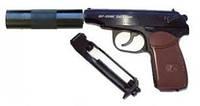 Пистолет МР-654К 28 серия с глушителем