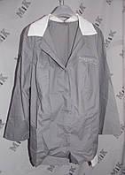 Блуза женская, рубашка с коротким рукавом с логотипом, ткань хб