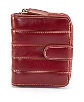 Красный горизонтальный двойной женский кошелек на кнопке FUERDANNI art. 2299, фото 1