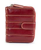 Красный горизонтальный двойной женский кошелек на кнопке FUERDANNI art. 2299