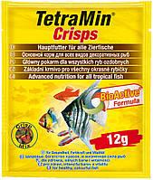 Tetra MIN Crisps (12гр) - основной корм для всех видов декоративных рыб