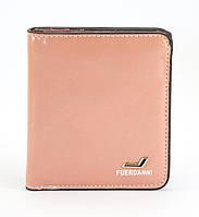 Розовый горизонтальный двойной женский кошелек на кнопке FUERDANNI art. 208-15, фото 1