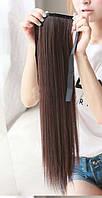 Хвост накладной искусственный светло-коричневый прямой