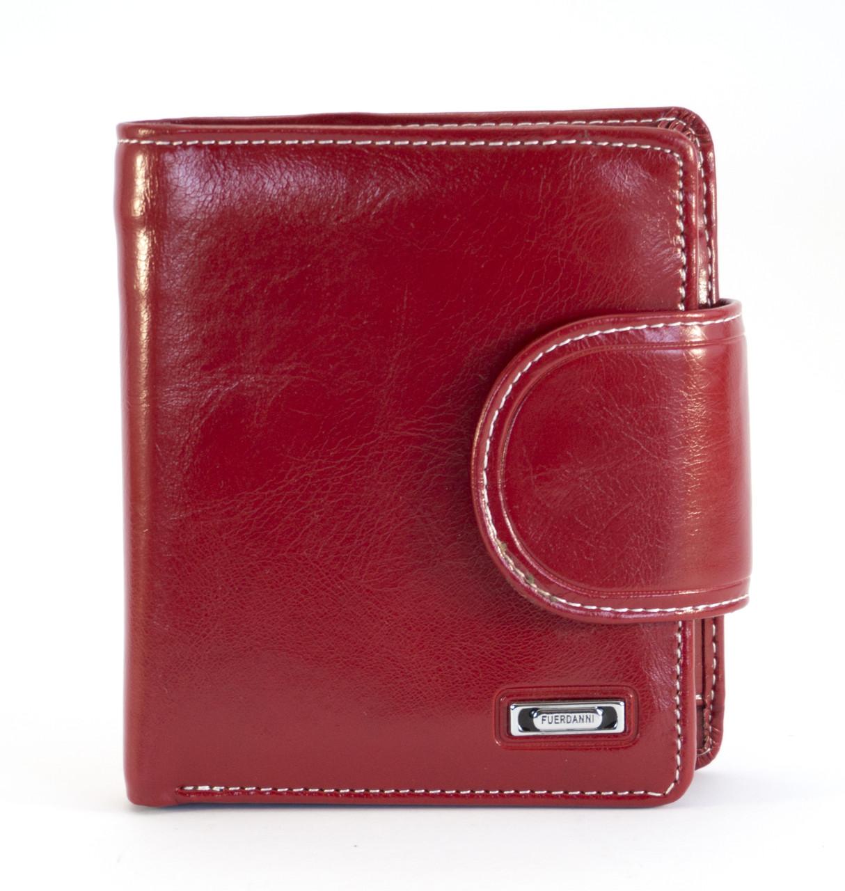 Красный горизонтальный стильный женский кошелек на кнопке FUERDANNI art. 4479