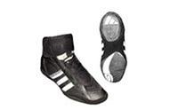 Борцовки (р-р 40-45) Кожа AD OB-3979-BK (верх-кожа, NY, низ-нескользящая резина, черный)