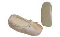 Балетные тапочки атласные OB-2797-S (р-р S/2-4лет, верх-атлас,PL, подошва-PVC)