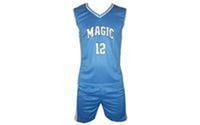 Форма баскетбольная юниорская CO-0038-2 NBA MAGIC 12 (PL, р-р S, M, L, голубой-белый)