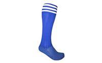 Гетры футбольные мужские CO-5607-B (х-б, нейлон, р-р 40-45, сине-белые)