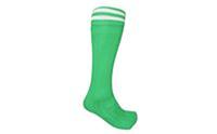 Гетры футбольные мужские CO-5607-G (х-б, нейлон, р-р 40-45, зелено-белые)