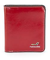 Красный горизонтальный удобный женский кошелек на кнопке FUERDANNI art. 208-15, фото 1