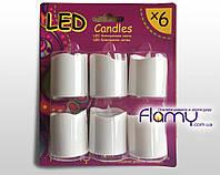 Cвеча электронная LED Флами (комплект 6 шт)
