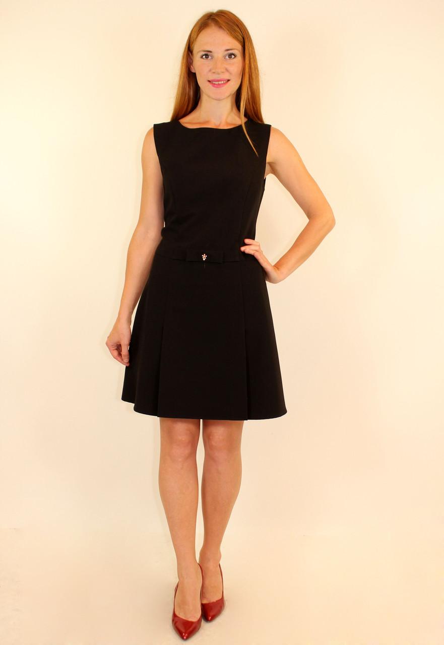 Школьное платье с юбкой в складку 42-48 р
