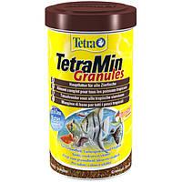 Tetra MIN Granules 500ml (гранулы) - основной корм для аквариумных рыб