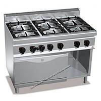 Газовая плита 6-ти конфорочная с духовкой (4 кВт) Bertos G7F6 + FG1