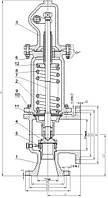 Клапан предохранительный закрытого типа Армагус